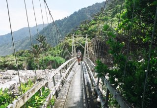 Heaphy Track Bridge Crossing